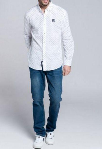 Oferta de Camisa fantasia blanco por 32,94€