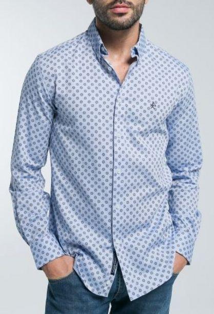 Oferta de Camisa Hombre Fantasía Celeste por 38,43€