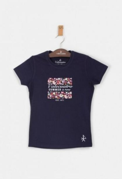 Oferta de Camiseta de niña summer azul por 13,25€