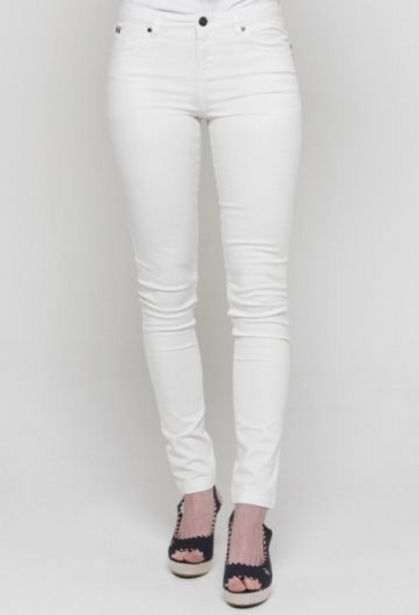 Oferta de Pantalón pitillo blanco mujer por 34,65€