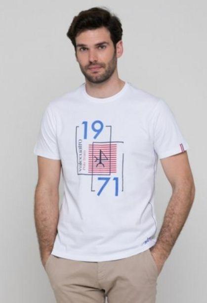 Oferta de Camiseta 1971 blanca de hombre por 14,41€