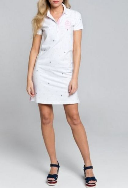 Oferta de Vestido Logos Blanco por 35,94€
