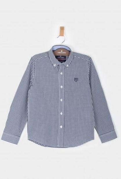 Oferta de Camisa niño vichy azul marino por 18,56€