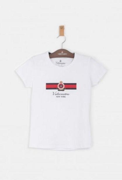 Oferta de Camiseta Niña New York Blanco por 11,45€