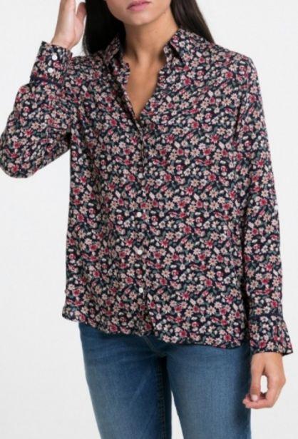 Oferta de Camisa flores de mujer azul marino por 31,76€
