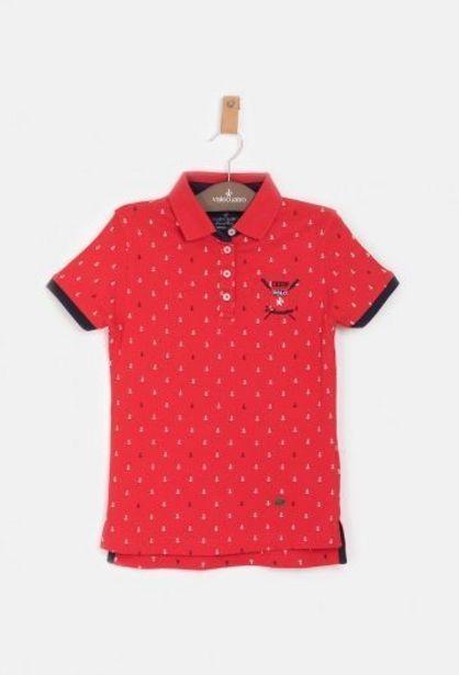 Oferta de Polo Niña Anclas Ladies Rojo por 16,49€
