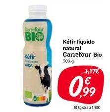 Oferta de Kéfir líquido natural Carrefour Bio por 0,99€