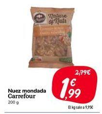 Oferta de Nuez mondada Carrefour por 1,99€