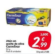 Oferta de Atún en aceite de oliva Carrefour por 2,99€