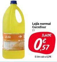 Oferta de Lejía normal Carrefour por 0,57€