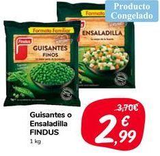 Oferta de Guisantes o Ensaladilla FINDUS por 2,99€
