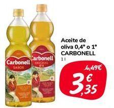 Oferta de Aceite de oliva 0.4º o 1º CARBONELL por 3,35€
