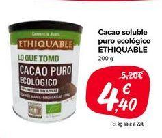 Oferta de Cacao soluble puro ecológico ETHIQUABLE por 4,4€