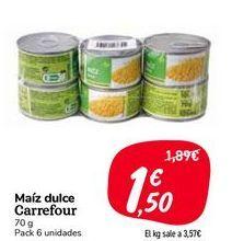 Oferta de Maíz dulce Carrefour por 1,5€