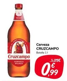 Oferta de Cerveza CRUZCAMPO por 0,99€