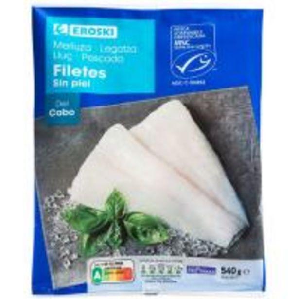 Oferta de Filete de merluza sin piel EROSKI, bolsa 540 g por 4,19€