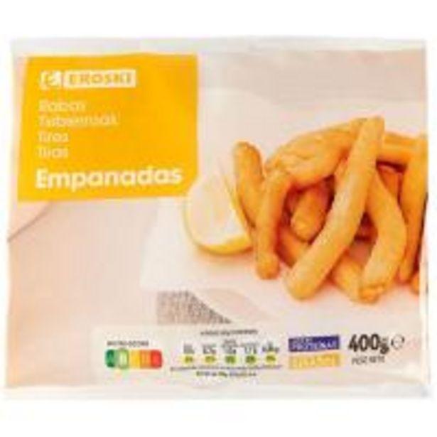 Oferta de Rabas empanadas EROSKI, bolsa 400 g por 2,79€