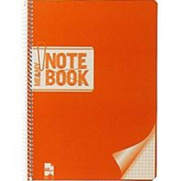 Oferta de Cuaderno espiral 4º tapa blanda con cuadro 4x4 EROSKI, 80 hojas 60g por 1€