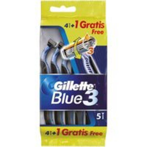 Oferta de Maquinilla desechable GILLETTE Blue 3, pack 4+1 uds. por 4,95€