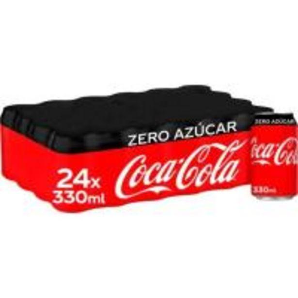 Oferta de Refresco de cola COCA COLA Zero, pack 24x33 cl por 15,36€