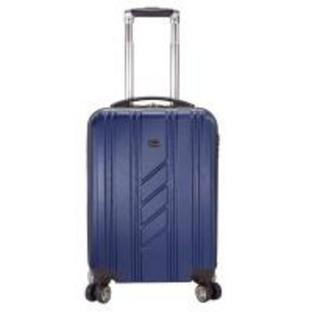 Oferta de Trolley cabina ABS rígido: 4 ruedas dobles, cierre lateral, azul marino ROYAN, 1ud por 25,9€