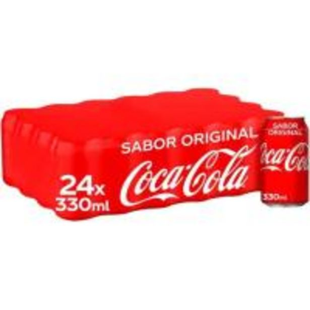 Oferta de Refresco de cola COCA COLA, pack 24x33 cl por 15,36€