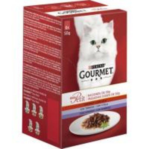 Oferta de Mon Petit de carne para gato GOURMET, pack 6x50 g por 3,1€