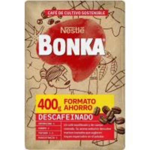 Oferta de Café molido descafeinado BONKA, paquete 400 g por 3,95€