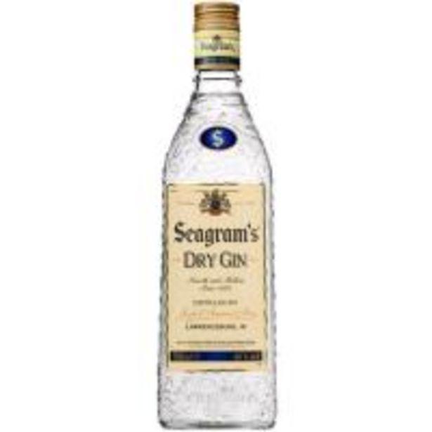 Oferta de Ginebra SEAGRAMS, botella 70 cl por 14,99€
