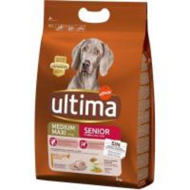 Oferta de Alimento para perro senior +7 años ULTIMA, saco 3 kg por 12,25€