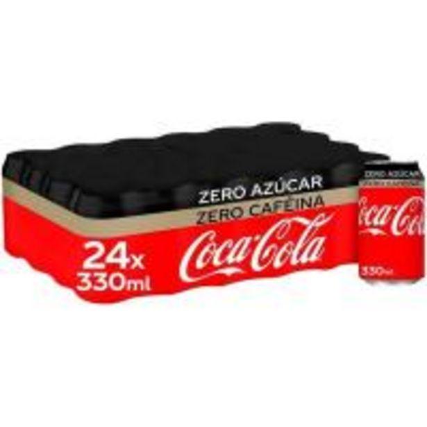 Oferta de Refresco de cola COCA COLA Zero Zero, pack 24x33 cl por 15,36€