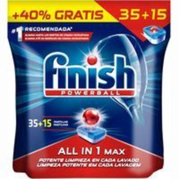 Oferta de Lavavajillas máquina FINISH Todo en 1, bolsa 35+15 dosis por 15,99€