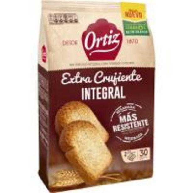 Oferta de Pan tostado integral ORTIZ, 30 rebanadas, paquete 324 g por 1,92€
