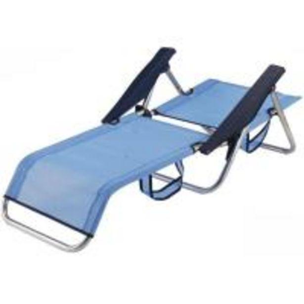 Oferta de Silla cama de aluminio-textiline c/ asa 83x60x77 cm 2,1 kg, 1 ud por 20€