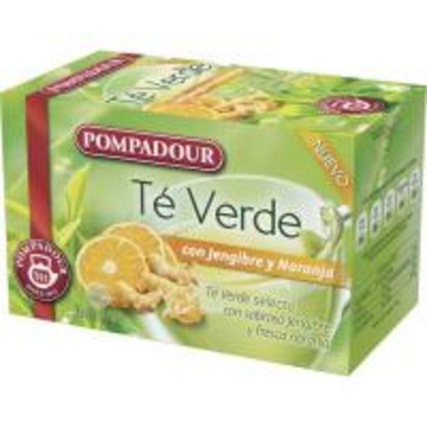 Oferta de Té verde con jengibre-naranja POMPADUR, caja 20 unid. por 2,05€