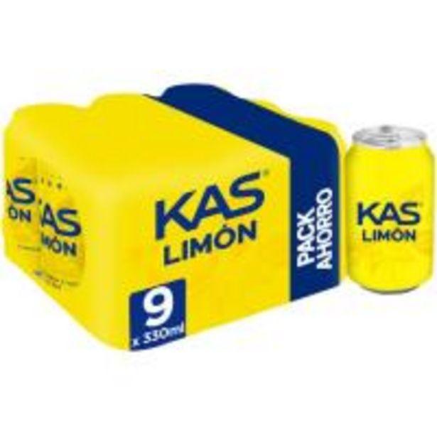 Oferta de Refresco de limón KAS, pack 9x33 cl por 4,71€