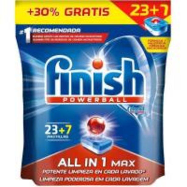 Oferta de Lavavajillas máquina FINISH Todo en 1, bolsa 23+7 dosis por 10,49€