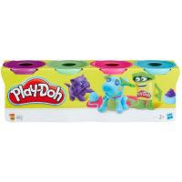 Oferta de Bote PLAY-DOH,pasta de moldear, sutidos sorpresa, edad rec:+2 años, pack 4uds por 4,99€
