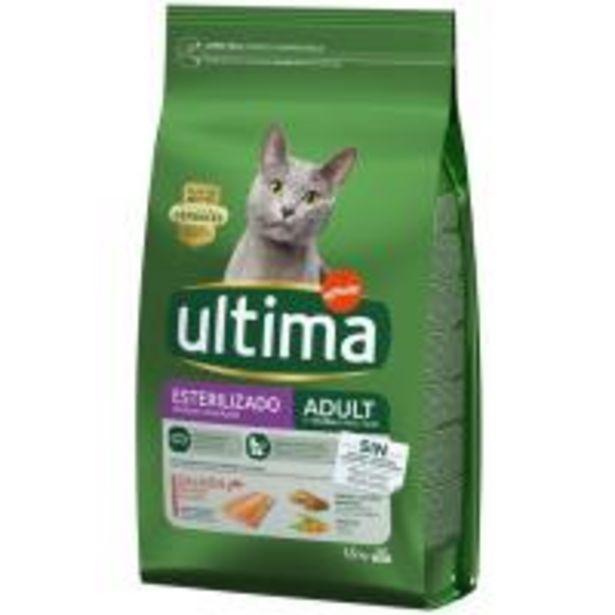 Oferta de Alimento de salmón gato esterilizado ULTIMA, saco 1,5 kg por 7,8€