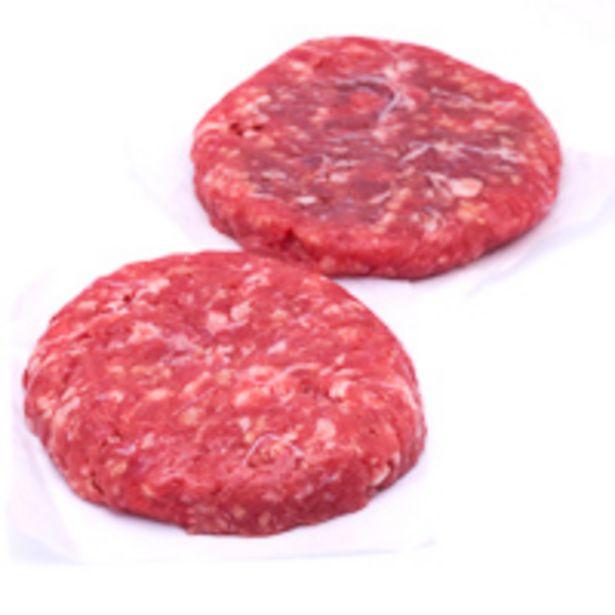 Oferta de Hamburguesa de ternera Eroski SELEQTIA, al peso, compra mínima 250 g por 2,54€