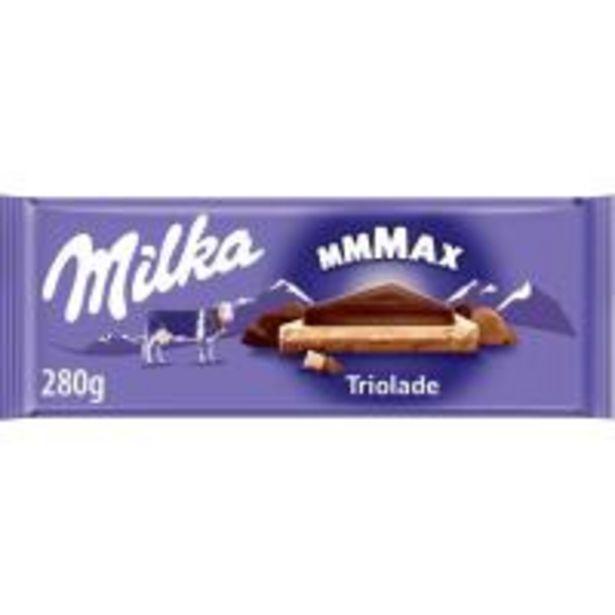 Oferta de Chocolate triolade MILKA, tableta 280 g por 2,84€