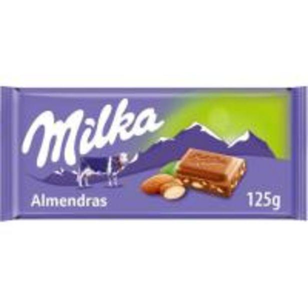 Oferta de Chocolate con almendras MILKA, tableta 125 g por 1,67€