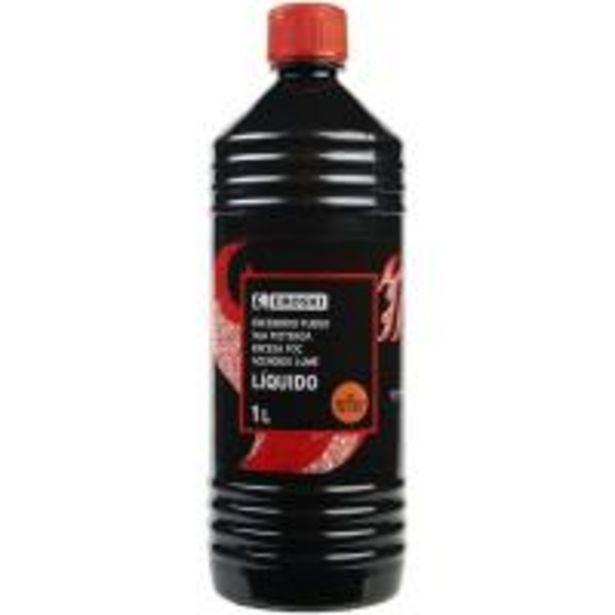 Oferta de Líquido de encendido de fuego EROSKI, botella 1l por 3,5€