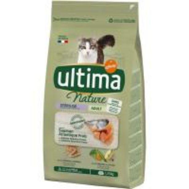 Oferta de Alimento de salmón gato esterilizado ULTIMA Nature, saco 1,25 kg por 8,35€