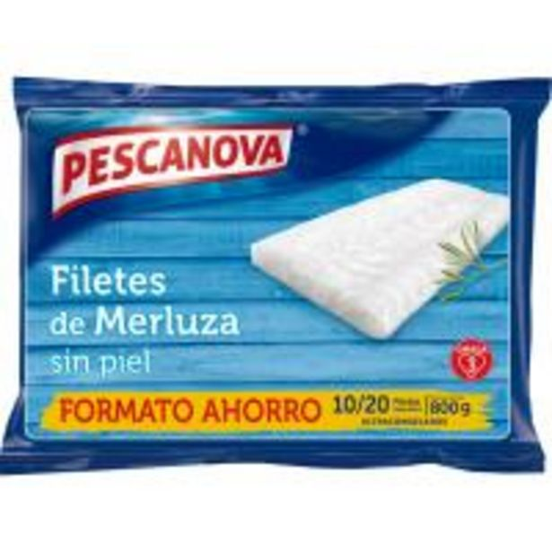 Oferta de Filetes de merluza sin piel PESCANOVA, bolsa 800 g por 7,39€