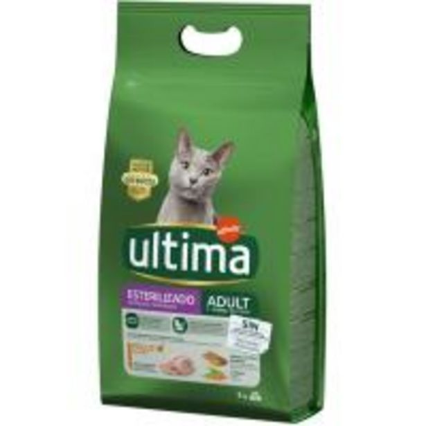 Oferta de Alimento de pollo gato adulto esterilizado ULTIMA, saco 3 kg por 15,75€