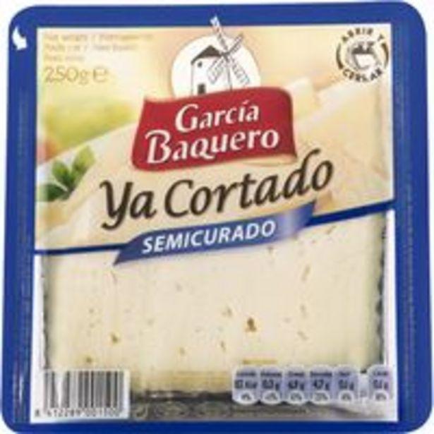 Oferta de Queso semicurado mezcla G. BAQUERO, cuña cortada 250 g por 4,68€