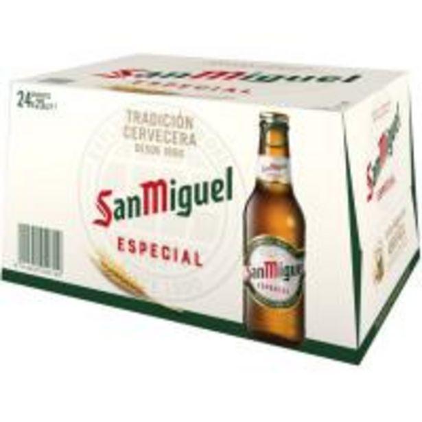 Oferta de Cerveza SAN MIGUEL, pack botellín 24x25 cl por 7,75€