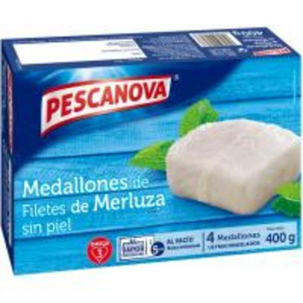 Oferta de Medallones de merluza PESCANOVA, caja 400 g por 6,25€
