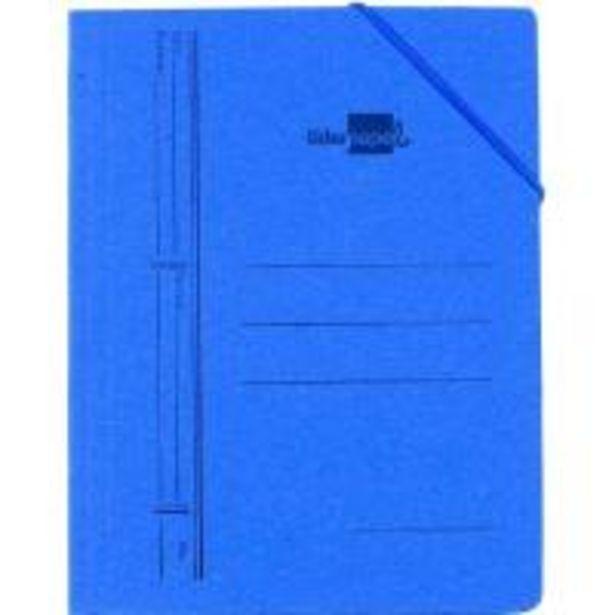 Oferta de Carpeta cartón azul folio, 3 solapas interiores, con gomas LIDERPAPEL por 1€